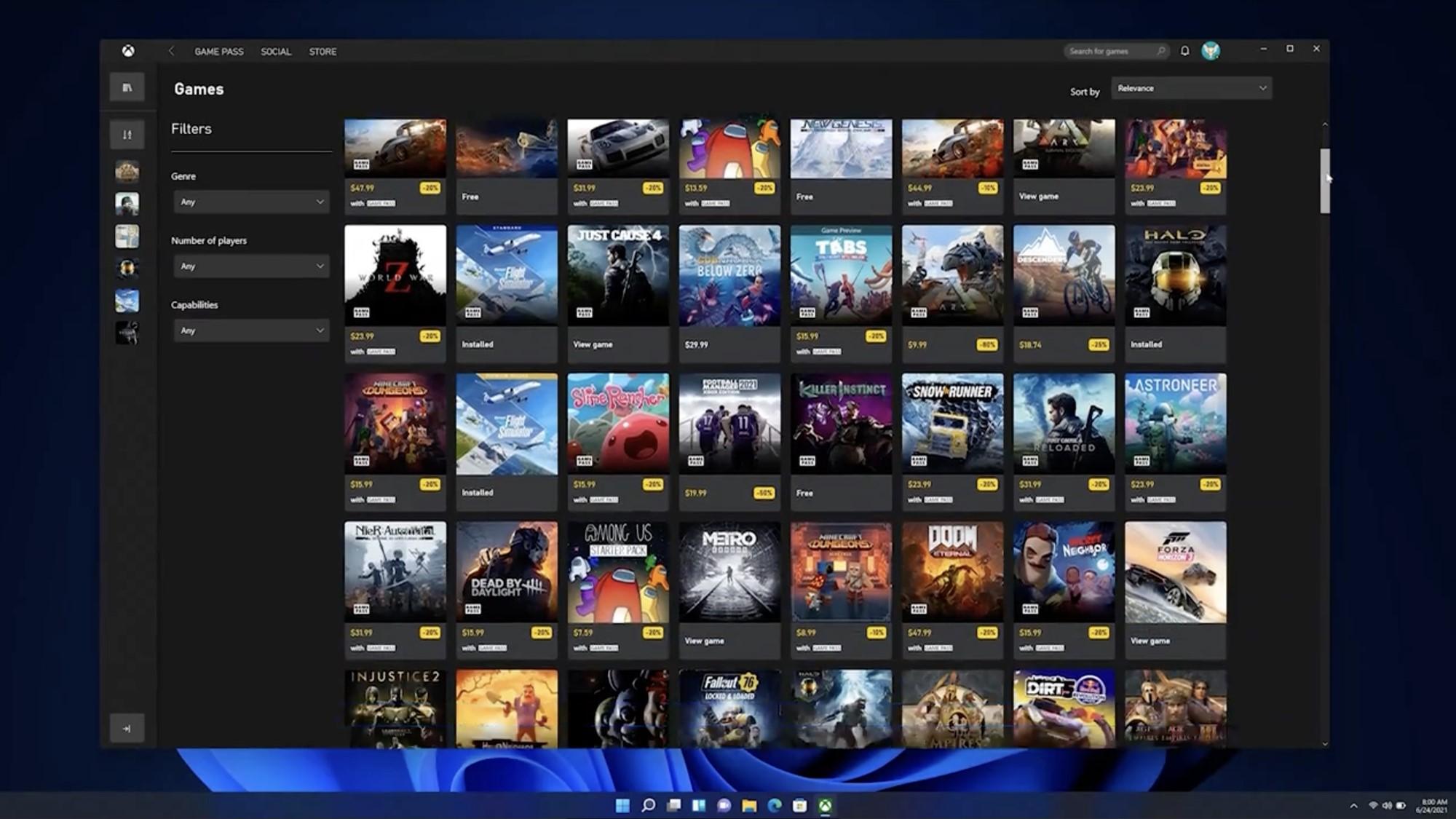 Xbox di Windows 11